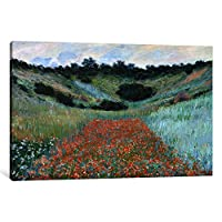 iCanvasART 1 Piece Poppy Field in a Hollow near Givernyキャンバスプリントbyクロード・モネ 1.5 x 40 x 26-Inch 15143
