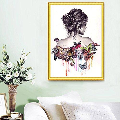 Diamond DIY Painting, UEB Butterfly Beauty Girl 5D Diamond DIY Painting Craft Kit Home Decor
