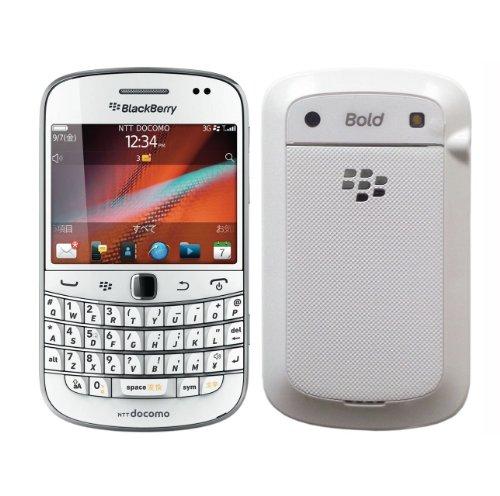 BlackBerry 白ロム docomo RIM Bold 9900 ホワイト