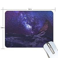 Anmumi マウスパッド 滑り止め 宇宙柄 星 星柄 銀河 19×25cm ゲームに適用 かわいい オシャレ レディース メンズ 子供 ゴム 実用性 パソコン対応