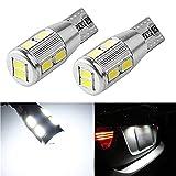 [SUPAREE]超高輝度T10 10SMD 5630Chip CANBUS キャンセラー内蔵 2個セット PCB基盤ベース 高輝度320ルーメン 色温度5500K ベンツ BMW フォルクスワーゲン AUDI 10連LED
