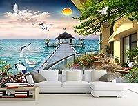 Minyose カスタム壁紙3Dステレオ中国の風景風景テレビソファの背景リビングルームベッドルームの背景3D wallp壁紙-140cmx100cm