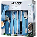 New WILTSHIRE Baguette 50 Piece Cutlery Gift Set Fork Knife Spoon Tea Cafe