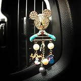 クリップ車の香水の香水の装飾品をベントハンガーダイヤモンド車の香水香水カーエアコン fugomo
