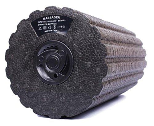 [Pastel Tech] 電動 振動 マッサージポール ローラー 4段階振動調整 ヨガ 筋膜リリース ST-1 日本語説明書付