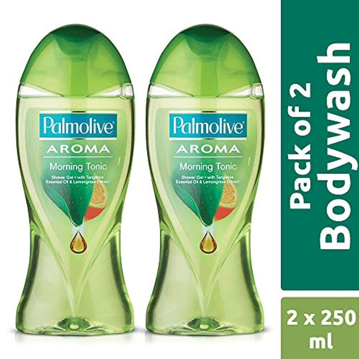 卒業抑制する突進Palmolive Bodywash Aroma Morning Tonic Shower Gel - 250ml (Pack of 2)