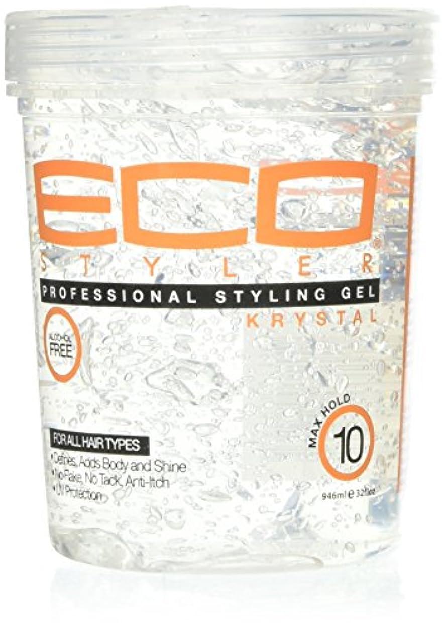 白菜約設定意気揚々Eco Styler Styling Gel Krystal Clear 900 gm (並行輸入品)
