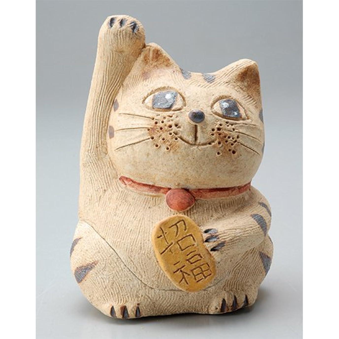 調整する黒再生的香炉 円な瞳招き猫(お金招き)香炉(小) [H8.5cm] HANDMADE プレゼント ギフト 和食器 かわいい インテリア