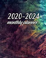 2020-2024 Monthly Planner: Awesome Cosmic Dust Five Year Organizer & Schedule Agenda | 5 Year Spread View Calendar with To-Do's, Inspirational Quotes, U.S. Holidays, Vision Board & Notes | Pretty Nebula