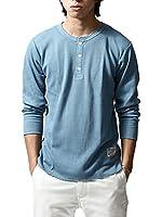 () ワッフル長袖Tシャツ/メンズ ファッション D