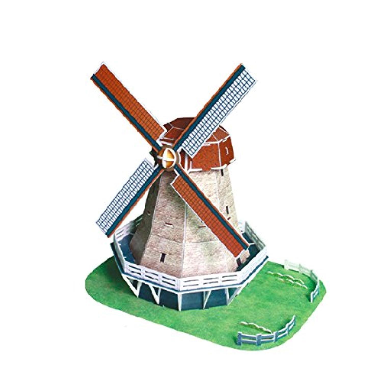 3D立体パズル オランダの風車