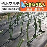 たまねぎ 栽培用 不織布 穴あき マルチ たまねぎ名人 1mx3.5m(玉ねぎ100本植え分)