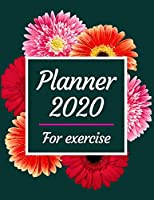 Planner 2020 for exercise: Jan 1, 2020 to Dec 31, 2020 : Weekly & Monthly Planner + Calendar Views (2020 Pretty Simple Planners)