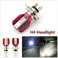 FidgetGear DC 12V H4 LED 16W 1700LM 6000Kオートバイヘッドライトハイ/ロービームヘッドランプ電球