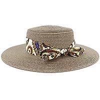 f228b6ee8a621d CHENDX High Quality Hat, Sun Visor Hats Women Beach Cap Straw Hat Panama  Hats for Lady Elegant Pearl Sun Hat Wide Brim Summer Fedora…