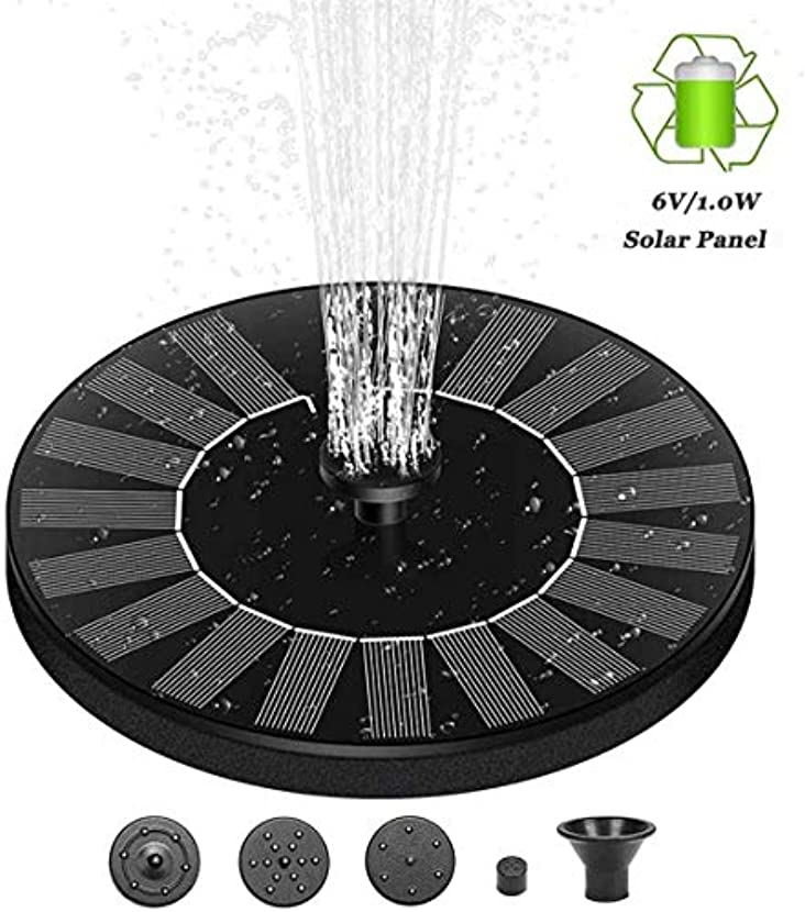 愚かな乳白秋6V / 1 0Wソーラーファウンテンポンプ、バードバス、ガーデン、ウォーターサーキュレーション用の内蔵型ソーラーパネル自立式で庭を飾るために使用