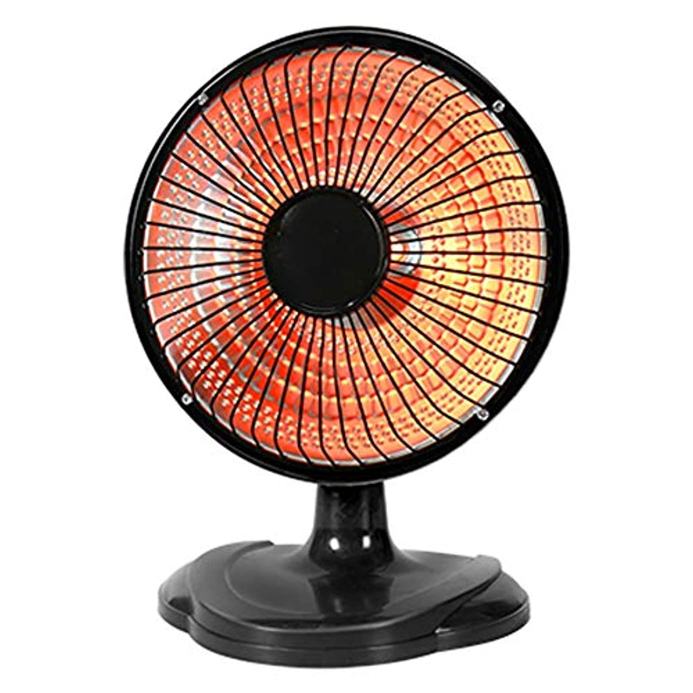 知らせる感動する腹痛調節可能なチルトホームオフィスのデスクトップやフロアスペースヒーター節電暖房小日ヒーターと電気パラボリック振動放射ディッシュヒーター (Color : Black)