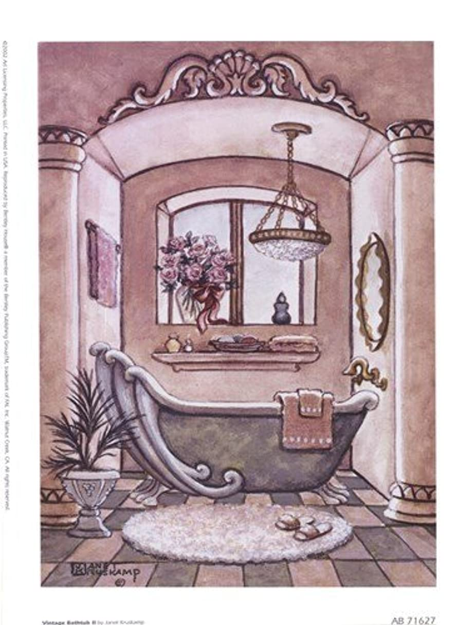 テクスチャー社員怒ってヴィンテージ浴槽LL by Janet Kruskamp – 6 x 8インチ – アートプリントポスター LE_66687
