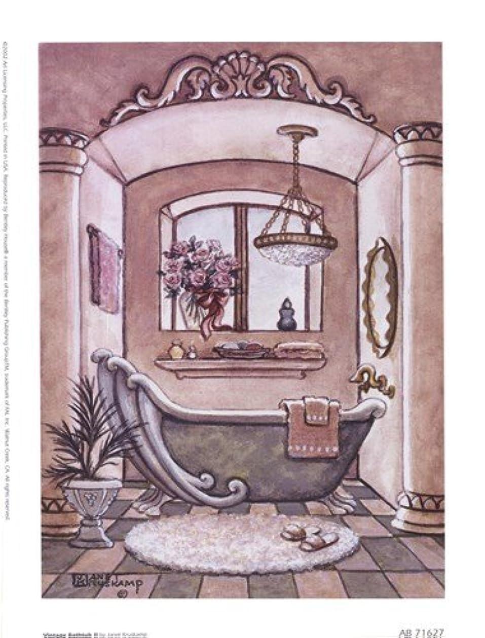 施設メールを書く作業ヴィンテージ浴槽LL by Janet Kruskamp – 6 x 8インチ – アートプリントポスター LE_66687