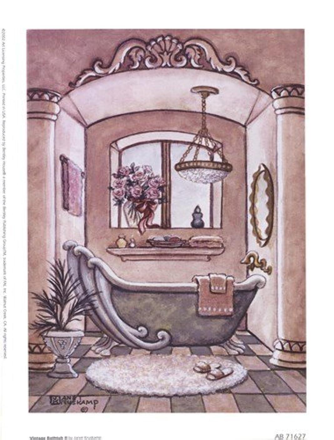メロドラマティック安全でないシャイニングヴィンテージ浴槽LL by Janet Kruskamp – 6 x 8インチ – アートプリントポスター LE_66687