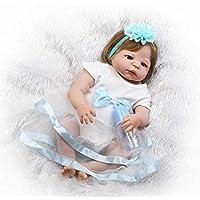 NPK新しい到着リアルな新生児赤ちゃん人形Rebornベビー人形シリコンGirl Alive幼児用23インチFullビニールボディFiberヘアプリンセス