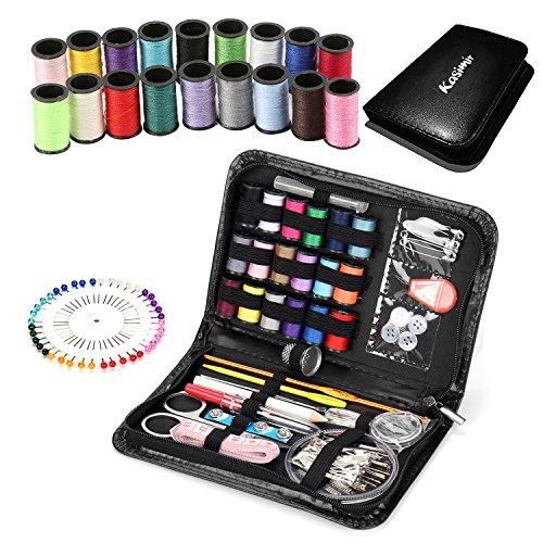 kasimir 裁縫セット ソーイングセット 携帯式 ブラック