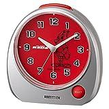 URAWA REDS ( 浦和レッズ ) 目覚まし時計 アナログ レッズ メロディ  (サポーターソング) 銀色 リズム時計 4ZM606RD19