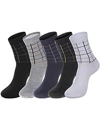 C-Princess 5足セット 靴下 メンズ 男性 紳士 スニーカー ソックス アンクルソックス 綿 チェック柄 カジュアル スポーツ トレッキング