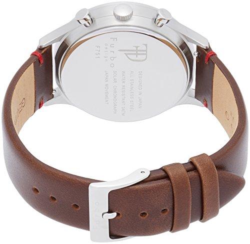 [フルボデザイン]Furbo design 腕時計 F751 ソーラークロノグラフ クォーツ ネイビー文字盤 ブラウン革 F751-SNVBR メンズ