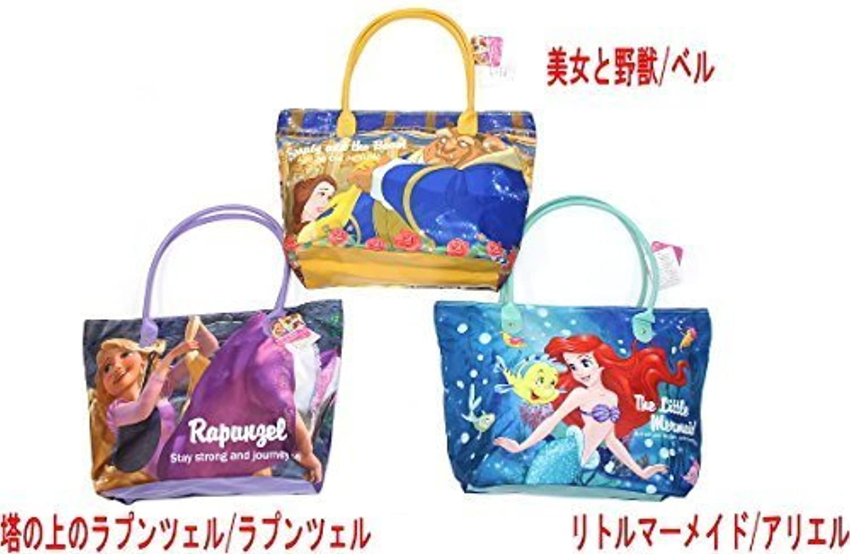 Disney ディズニー プリンセスシーン BIG トートバッグ 鞄 大きいバック ラプンツェル アリエル ベル (美女と野獣/ベル)