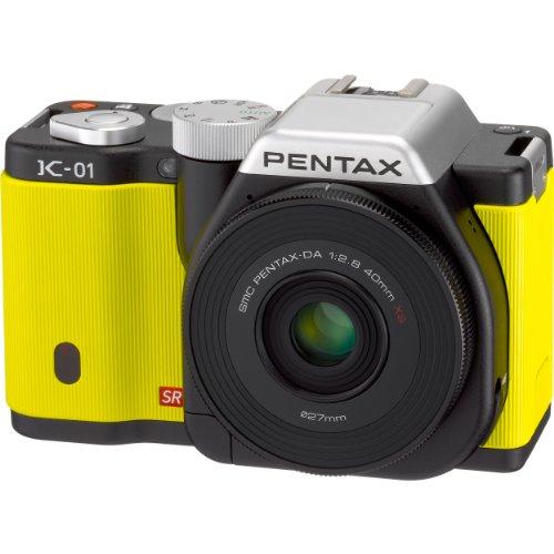 PENTAX ミラーレス一眼カメラ K-01レンズキット ブラック/イエロー K-01LK BK/YE