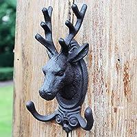 SLH ヨーロッパとアメリカレトロ鋳鉄フックコートフック小さなダブルフック??壁掛け壁装飾品