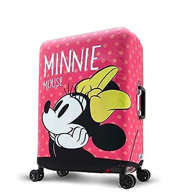 旅のセレクトショップ! スーツケースカバー DISNEY MINNE ミニー キャリーバッグカバー 保護カバー キャラクター ピンク (M)