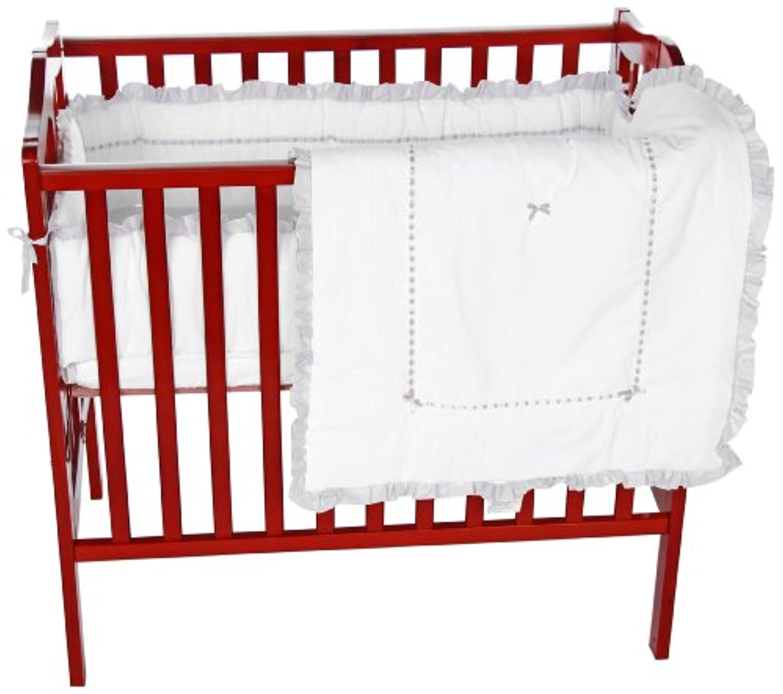 Baby Doll Bedding Unique Mini Crib/ Port-a-Crib Bedding Set, Grey by BabyDoll Bedding