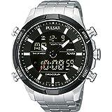[セイコー パルサー]SEIKO PULSAR 多機能デジアナ デジタル&アナログ 100m防水 メンズ 腕時計 ブラック PW6003X1 [逆輸入品]