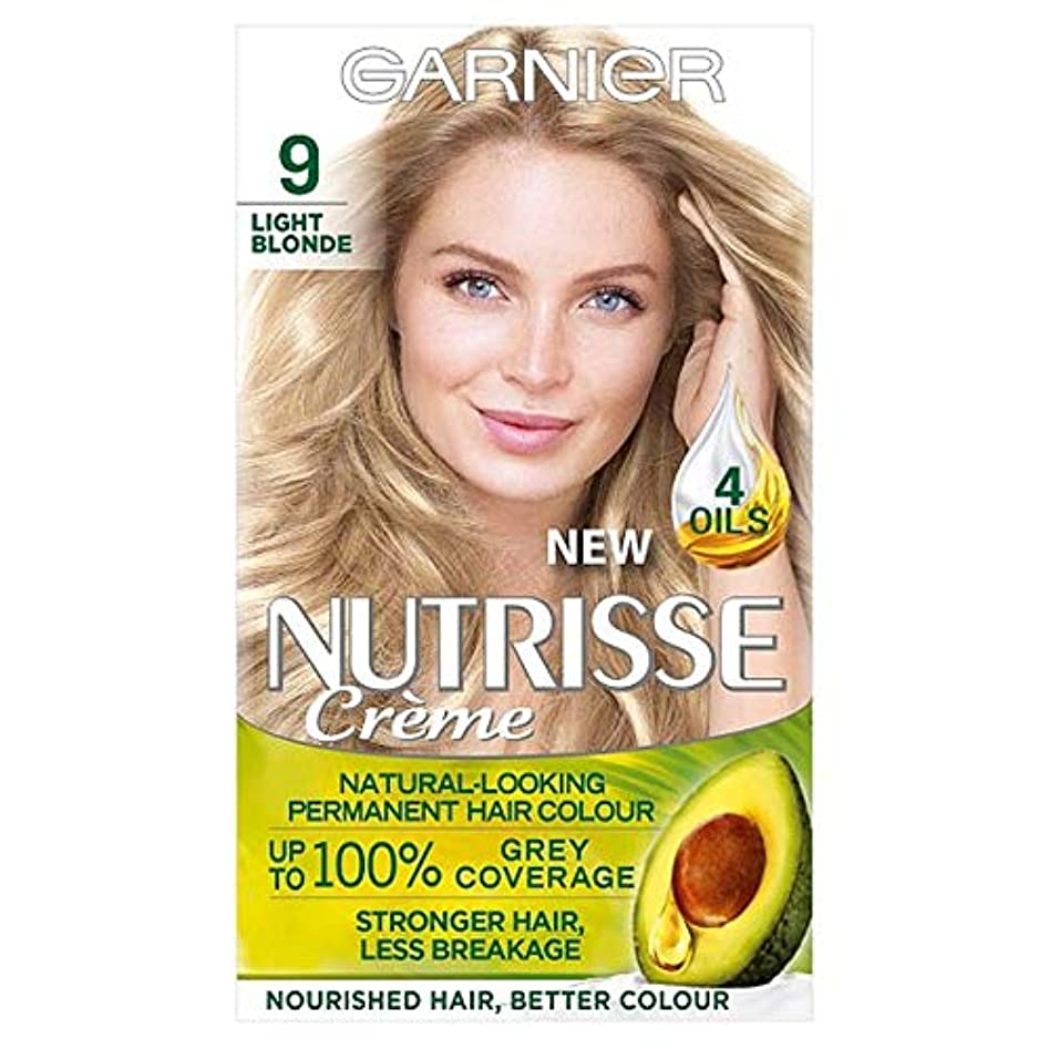 起こる見物人楽観[Nutrisse] ガルニエNutrisse 9ライトブロンドパーマネントヘアダイ - Garnier Nutrisse 9 Light Blonde Permanent Hair Dye [並行輸入品]