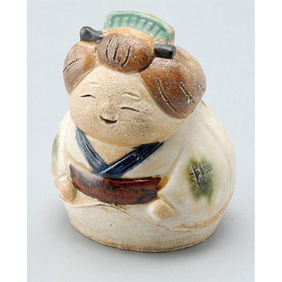 散らすやむを得ない抽象化香炉 飾り香炉(お多福) [H7cm] HANDMADE プレゼント ギフト 和食器 かわいい インテリア