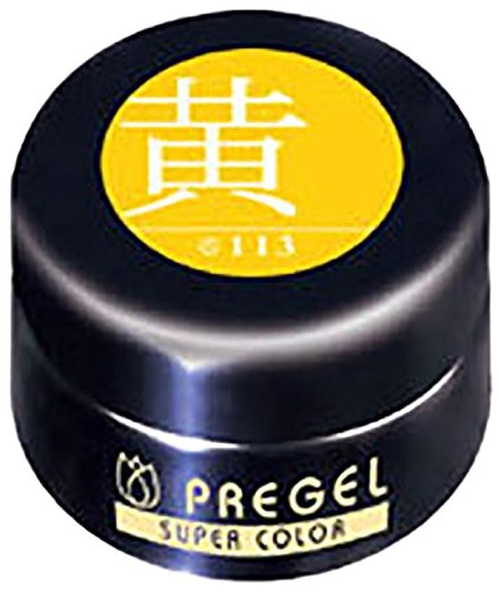 写真を描く差別する塊プリジェル スーパーカラーEX 黄 4g PG-SE113 カラージェル UV/LED対応
