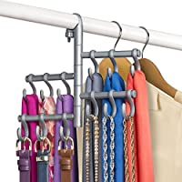 Lynk Hanging Pivoting Accessory Organizer with調節可能なフック シルバー 144602DS