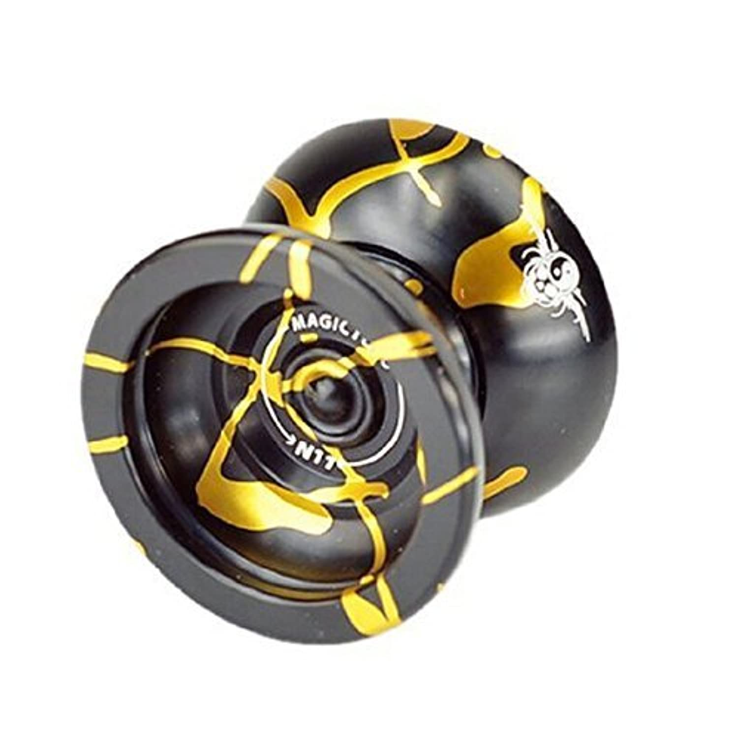 Fentac Magic YOYO N11 Alloy Aluminum Yo-Yo Professional YoYo Toy Black&Glod [並行輸入品]