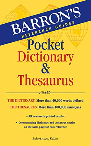 Download Barron's Pocket Dictionary & Thesaurus (Barrons Reference Guides) 0764143050