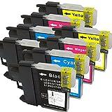 【むさしのメディアオリジナル】 BROTHER 互換LC11-16-4PKx2(4色セット x 2パック)インクカートリッジ ブラザー互換 [フラストレーションフリーパッケージ(FFP)]