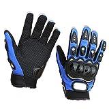 【ノーブランド品】アウトドア スポーツ オートバイ用 ウインター 防寒 防風 手袋 グローブ サイズM  ブルー