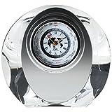 NARUMI(ナルミ) 時計 グラスワークス マロン クリア 高さ20.9cm 世界時計 GW1000-11066
