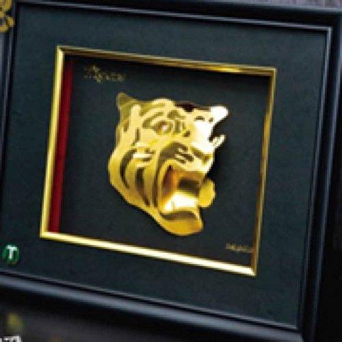阪神タイガース 24金 純金箔 立体オブジェ
