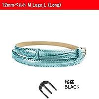 【腕時計交換用ベルト】12mmベルト 本革 ロング Long レディース Faceaward フェイスアワード (M_Lago_L (Long) 尾錠_Black)