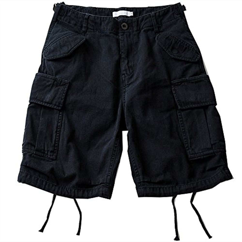 ANGELCITY ショートパンツ ズボン カーゴパンツ 短パン メンズ ファッション 綿 五分 丈 カジュアル 無地 ゆったり 純色 大きいサイズ PWJS20