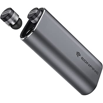 Eonfine Bluetooth イヤホン 左右独立型 ブルートゥース イヤホン 高音質 モバイルバッテリー付き 片耳 両耳対応 日本語説明書 技適認証済