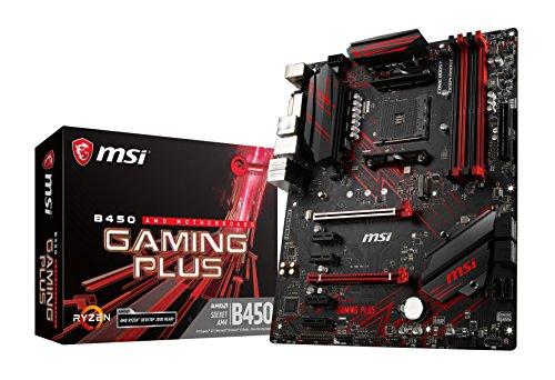 MSI B450 GAMING PLUS ATX ゲーミングマザーボード AMD  MB4527 B07FT9K8BC 1枚目