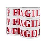フラジール・テープ 6巻セット / 割れ物注意・荷札テープ / PACKING TAPE 【FRAGILE】